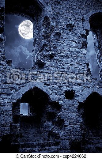 castelo, spooky - csp4224062