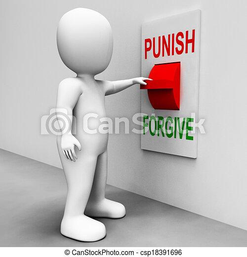 castigar, perdonar, castigo, interruptor, perdón, o, exposiciones - csp18391696