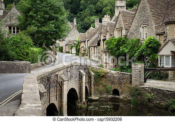 Castle combe, Cotswolds Village - csp15932206