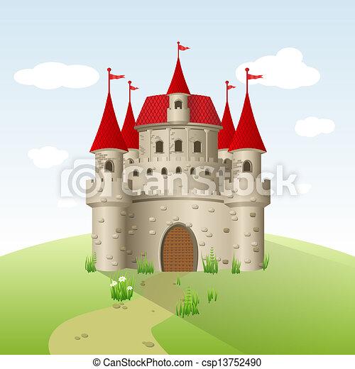Castillo de cuento de hadas - csp13752490