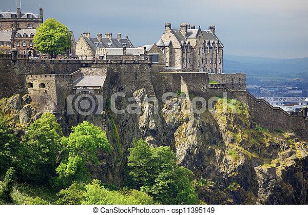 Castillo Edimburgo, Escocia, Reino Unido - csp11395149