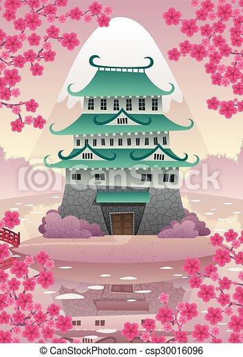 Castillo japonés - csp30016096