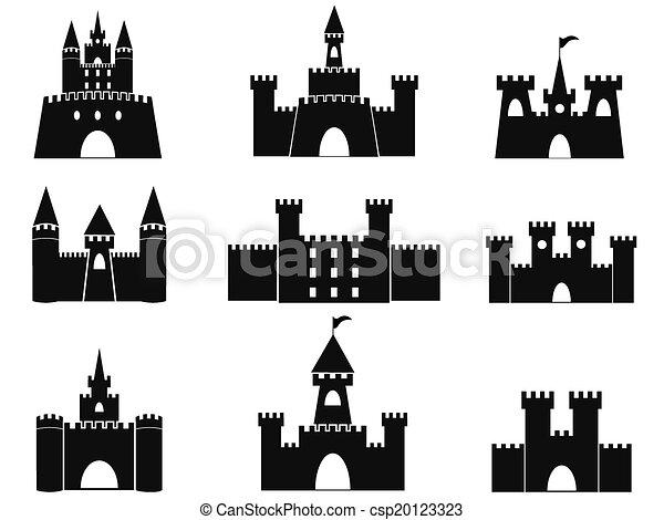 iconos del castillo negro - csp20123323