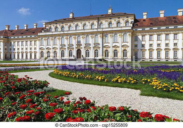 Castillo  ⁇ schleissheimer cerca de Munich, Alemania - csp15255809