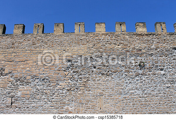Castle battlements - csp15385718