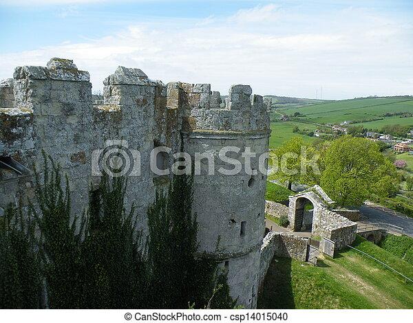 Castle battlements. - csp14015040