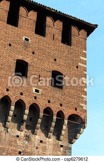 Castle battlements - csp6279612