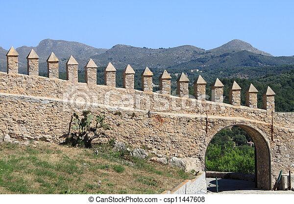 Castle battlements - csp11447608