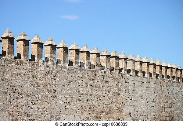 Castle battlements - csp10638833