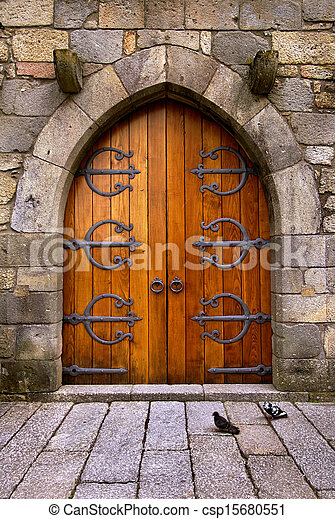 Castle Door - csp15680551