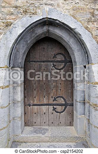 Castle door - csp2154202 & Castle door. A wooden door at ross castle in killarney... stock ...
