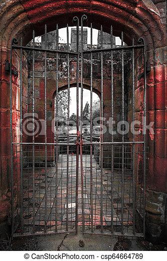 Castle Doorway - csp64664789