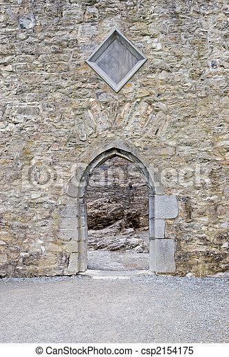 Castle doorway - csp2154175