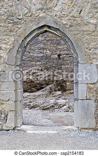 Castle doorway - csp2154183
