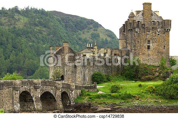 Castle Eilean Donan in Scotland - csp14729838