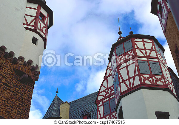 Castle Eltz in Germany. View to the towers - csp17407515