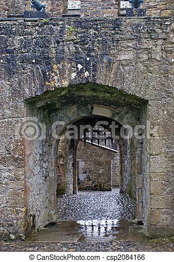 Castle gate with portcullis - csp2084166