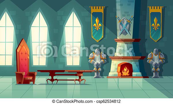 castle hall, interior of royal ballroom - csp62534812