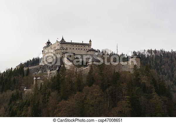 castle Hohenwerfen - Austria - csp47008651