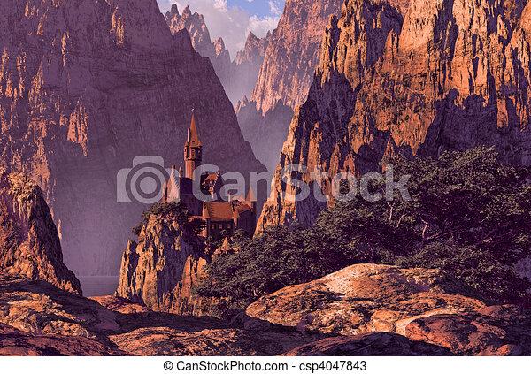 Castle in Deep Canyon - csp4047843