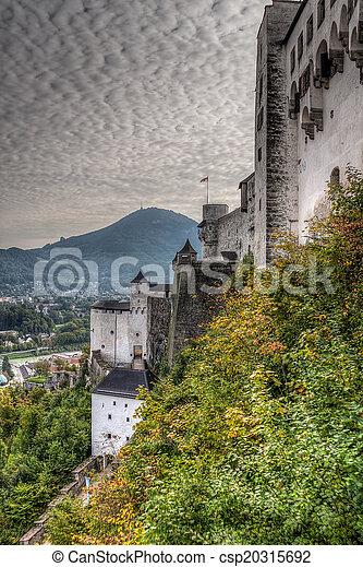 Castle in Salzburg, Austria - csp20315692