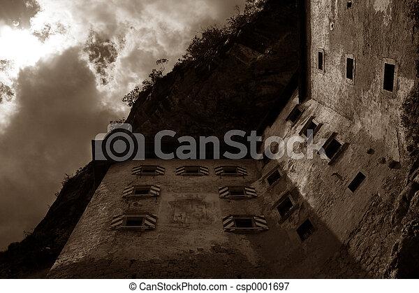 castle in sepia - csp0001697