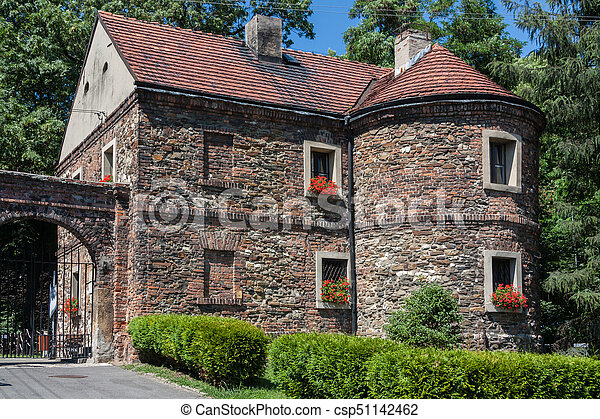 Castle in Toszek, Poland Upper Silesia - csp51142462