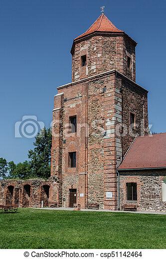 Castle in Toszek, Poland Upper Silesia - csp51142464