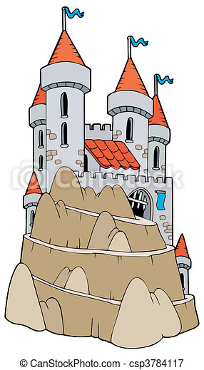 Castle on hill - csp3784117