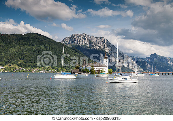 Castle on Traunsee lake - csp20966315