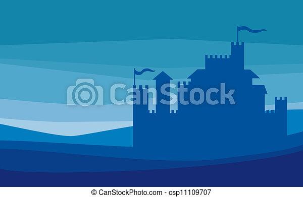 Castle silhouette - csp11109707