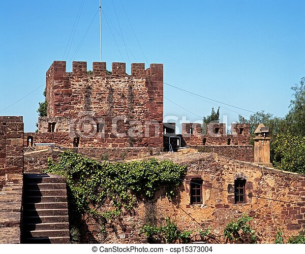 Castle, Silves, Portugal. - csp15373004