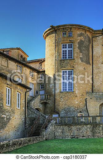 Castle under blue sky - csp3180337