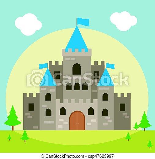 castle vector illustration eps vectors search clip art rh canstockphoto com castle victoria bc castle victoria gates