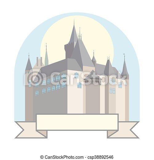 Castle with a bridge. - csp38892546