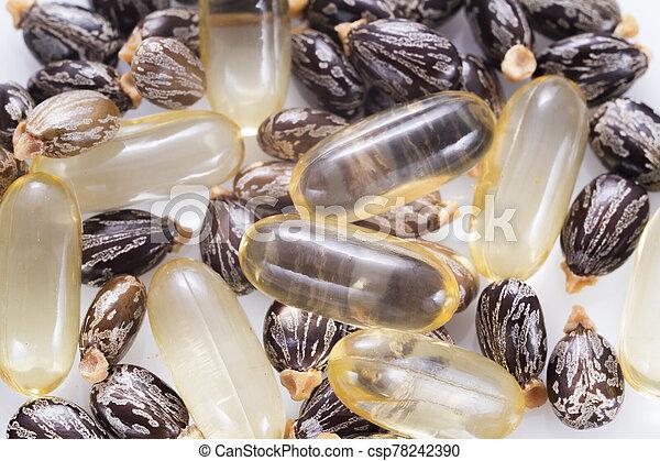 Castor Oil And Seeds Ricinus Communis