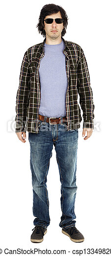 Casual 30's Guy with Sunglasses - csp13349820
