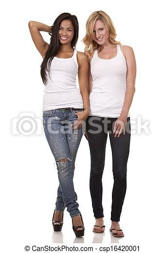 casual, duas mulheres - csp16420001