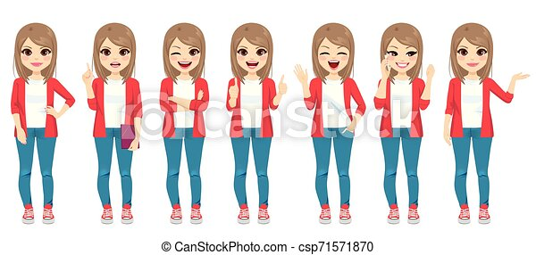 Casual Fashion Teenager  Different Gestures - csp71571870