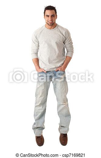 Hombre casual - csp7169821