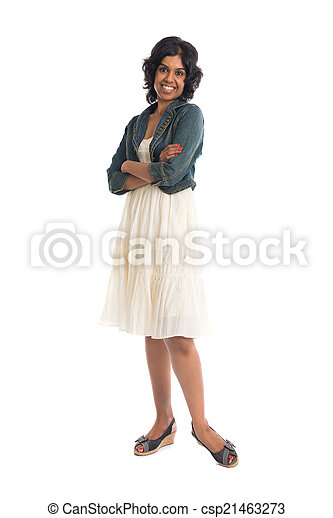 casual indian female with skirt  - csp21463273