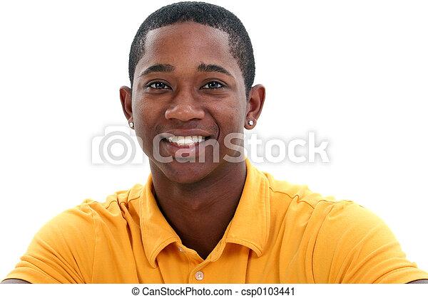 Casual Man in Yellow - csp0103441
