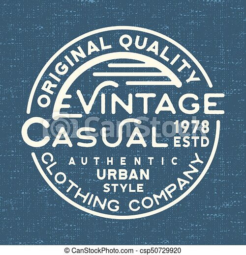5ec6a51e6 T-shirt print design. casual vintage stamp for denim t shirt. printing and  badge, applique, label, t-shirts, jeans, casual and urban wear. vector ...