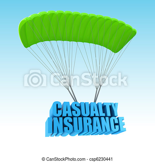 Casualty Insurance 3d concept illustration - csp6230441