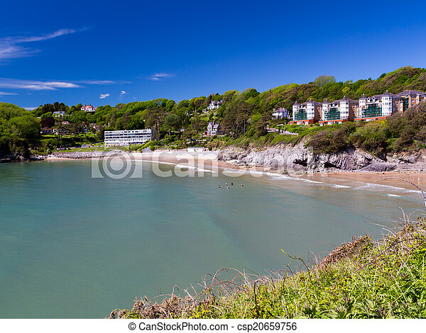 Caswell Bay Wales UK Europe - csp20659756