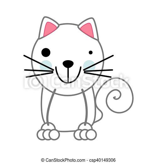cat animal cartoon - csp40149306