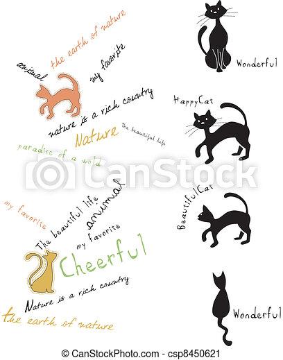cat , animal, pet, cute, vector - csp8450621