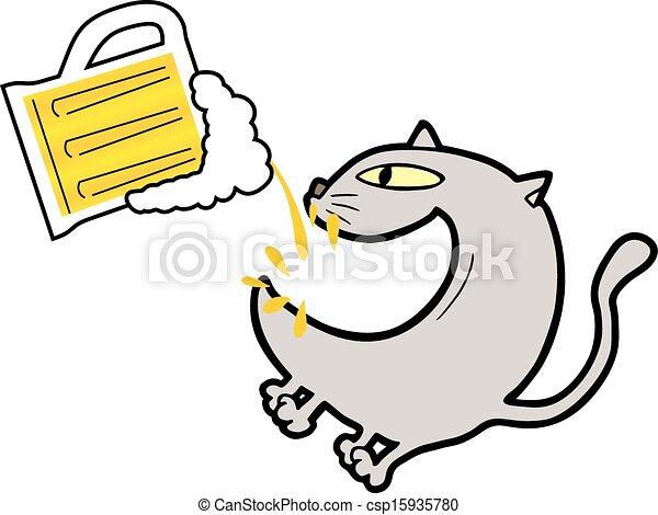 Cat beer - csp15935780