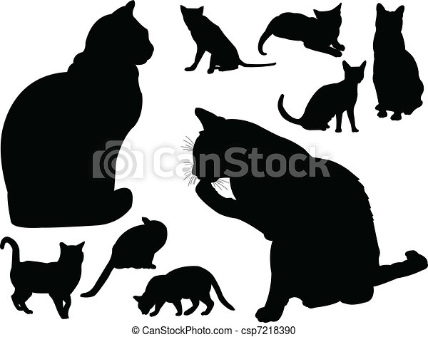 cat collection - vector - csp7218390