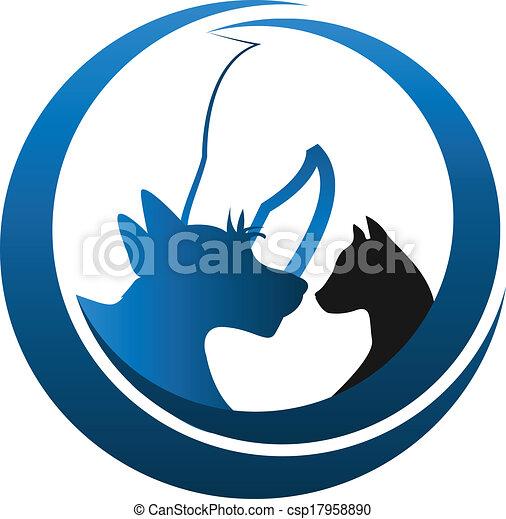 Cat dog and horse logo...